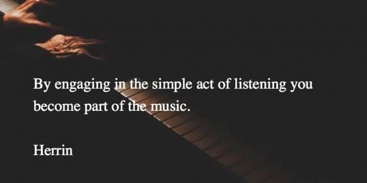 simple act of listening - Herrin